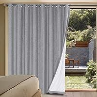 Linen Blackout Curtains Durable Thick Textured Linen Look 100% Blackout Patio Door Curtain Anti Rust Grommet Extra Wide…