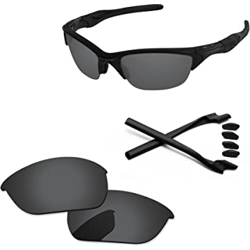 e3c098cdb1 Amazon.com  PapaViva Lenses Replacement   Rubber Kits for Oakley Half Jacket  2.0 Chrome Silver  Clothing