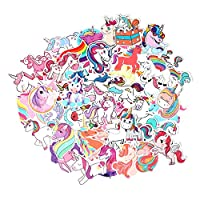 FNGEEN Unicorns Stickers [50pcs] Cute Laptop Stickers Pack Vinyl Waterproof Stickers for Motorcycle Luggage Water Bottle Skateboards Snowboard, Stickers Bomb Cool Stickers and Decals