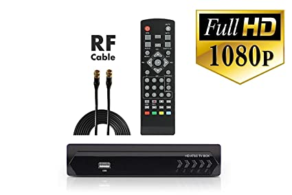 Digital Converter Box + Coaxial Cable Watching & Recording Full HD Digital Channels Free - Instant