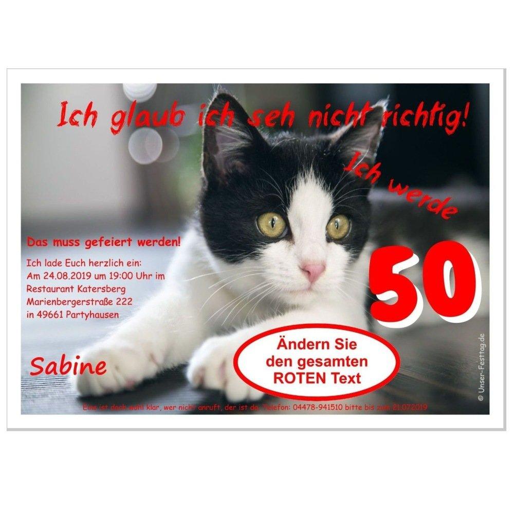 Personalisierte Einladungen für Geburtstag Geburtstag Geburtstag Besteandene Prüfung Silvester - eigener Text Katze mit Spruch, 90 Karten - 21 x 14,8 cm DIN A5 B01CW33FV8 | Schenken Sie Ihrem Kind eine glückliche Kindheit  | Wir haben von unseren Kunden Lob erhalten 072d60