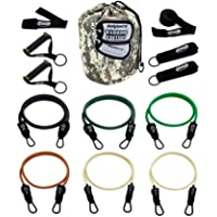 Bodylastics Anti-SNAP Warrior Edition Resistance Band Sets Come with 6 or 8 Exercise Tubes, Heavy Duty Components, a…