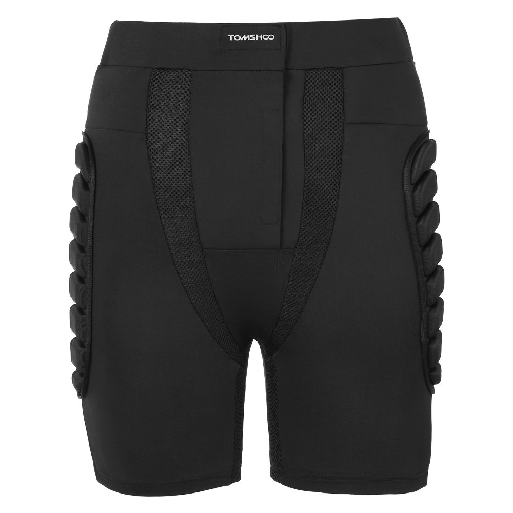TOMSHOO Padded Shorts 3D EVA Padded Pants Hip Butt Pad Protective Gear Guard Pad Breathable Sportswear for Skiing Snowboarding Skating - Upgraded