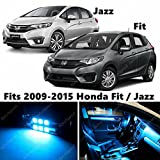 8 X Premium ICE BLUE LED Lights Interior Package Kit for 2009-2015 Honda Fit or Jazz