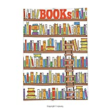 Custom printed Throw Blanket with Modern Library Bookshelf with A Ladder School Education Campus Life Caricature Illustration Multicolor Super soft and Cozy Fleece Blanket