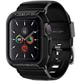 SPIGEN [Rugged Armor Pro] Apple Watch Case + Strap for Series 5 / Series 4 (40mm) with Shock Resistance and Adjustable Strap - Black
