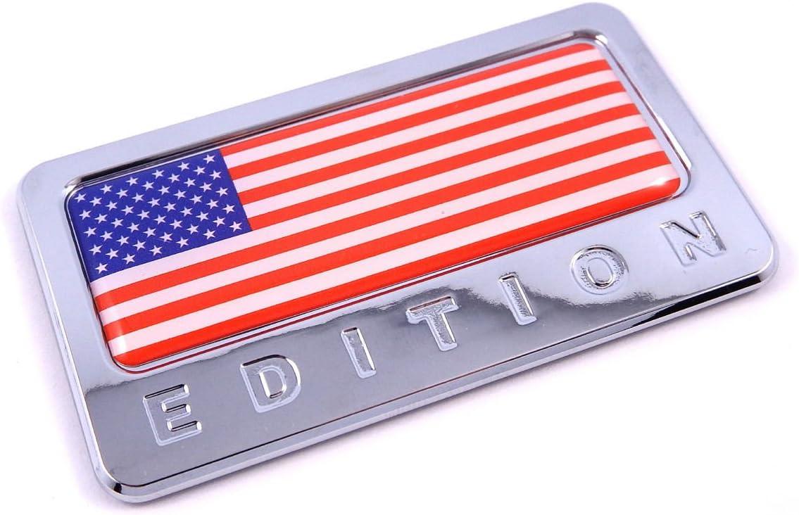 US Flag Emblem Cute Metal Car Decal Sticker United States USA Fender Trunk Badge