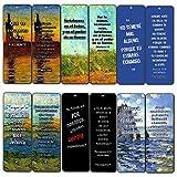 Spanish Bible Inspirational Bookmarks Cards Be Strong (60-Pack)- Jeremías 29:11 Josué 1:9 Salmos 23:4 Sunday School Homeschooling Bible Journal Craft Devocionales Cristianos en Español