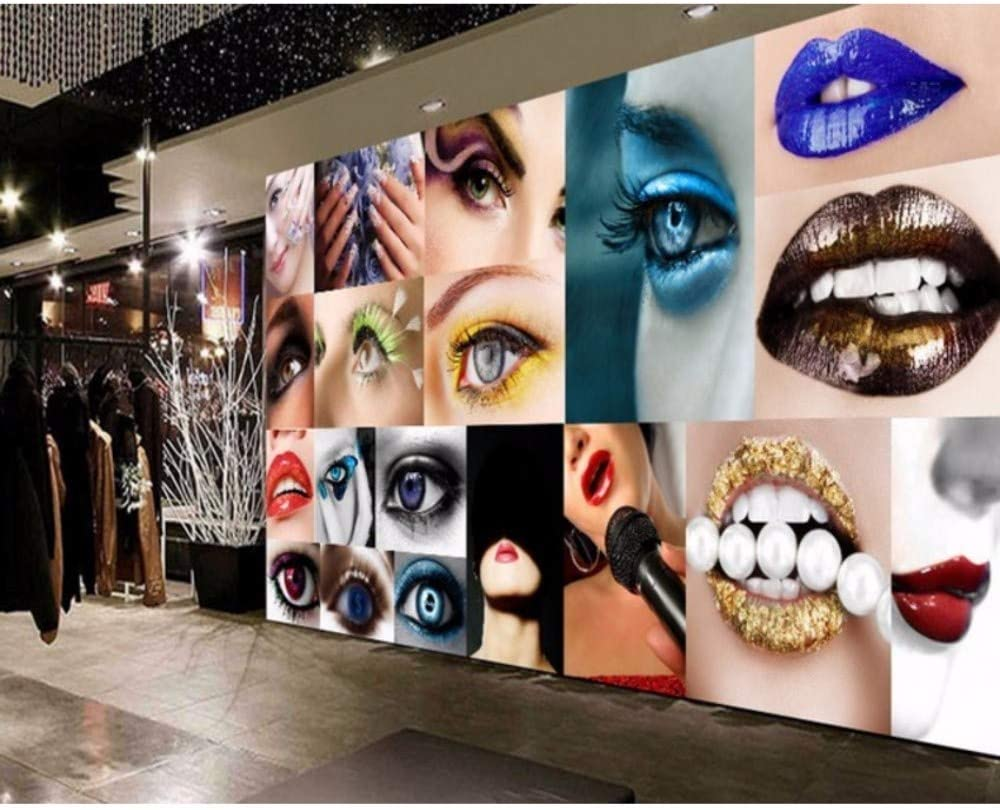 Amazon Com Pbldb Beauty Shop Background Wallpaper Makeup Shop Decoration Mural Custom 3d Nail Shop Decoration Wallpaper 250x175cm Kitchen Dining