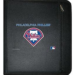 C.R. Gibson 3-Ring Zipper Binder, Pocket Inside, Water Resistant, Licensed by MLB, Measures 12.5\