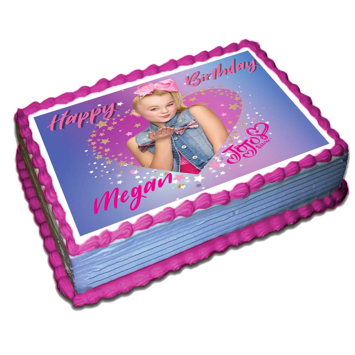Jojo Siwa Personalized Cake Toppers Icing Sugar Paper 8.5 x 11.5 ...