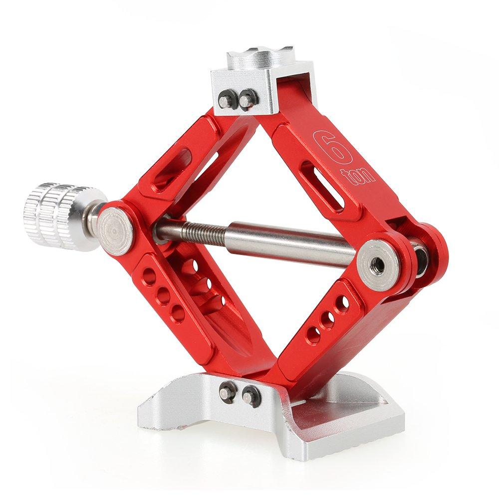 Goolsky 6 TON Aluminum Alloy Scale Adjustable Jack Stand for 1/10 RC4WD D90 SCX10 Rock Crawler RC Car