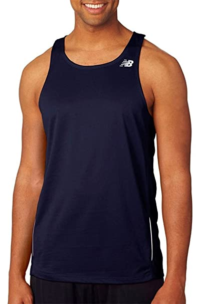 dbf32cd10f7a7 New Balance Men s Tempo Running Singlet at Amazon Men s Clothing store