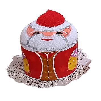 Outgeek Navidad Toalla Suave Linda Santa Monigote de Nieve Campana Tambor Mano Toalla Cara Toalla para Niños: Amazon.es: Hogar