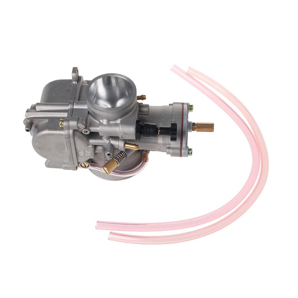 FXCO Carburateur universel de moto 21mm pour Keihin Carb PWK Mikuni avec Power Jet