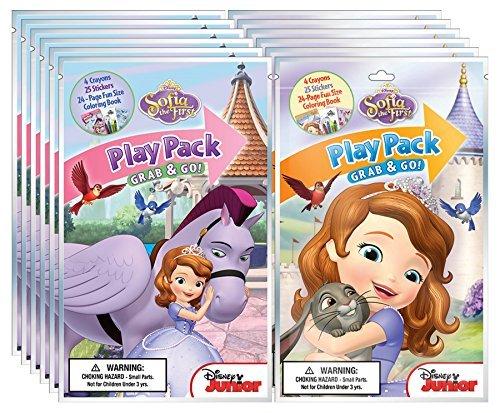 Bundle of 12 Disney Junior Sofia the First Grab & Go Play Packs