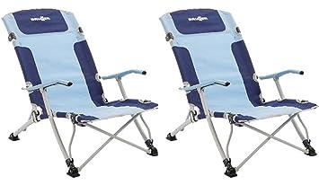 Brunner Bula XL - 2 sillas plegables bajas, para playa y ...