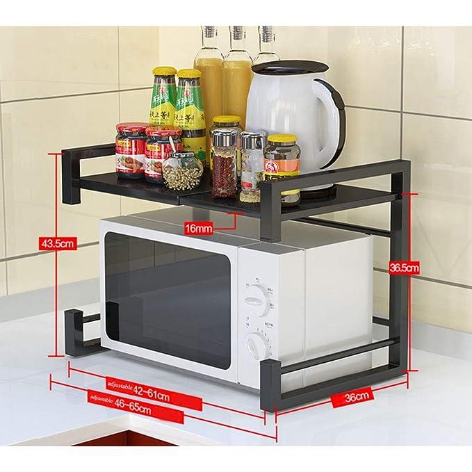 HHRONGJKDMM Estantes de Almacenamiento de Cocina, microondas ...