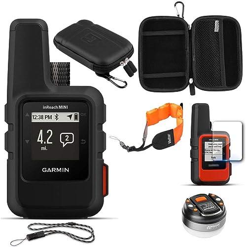 Garmin inReach Mini GPS Black with Accessories Bundle