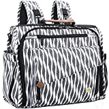 Cheap ALLCAMP Zebra Diaper Bag Large, Support Baby Stroller, Converted Into a Tote Bag, Black and White …