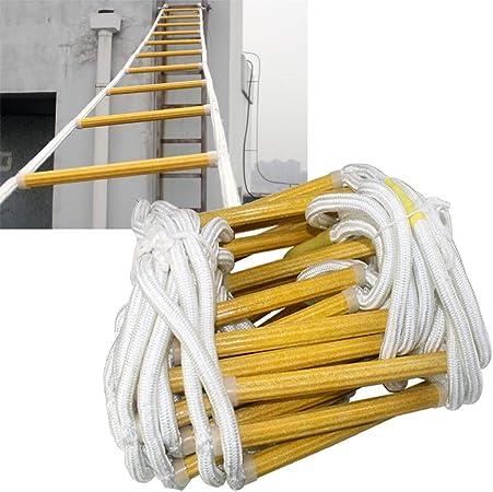 MAHFEI Escalera De Cuerda, Escaleras De Evacuación Portátil Escalera De Incendios Portable Multifuncion Escalera Suave Nylon Escalada Casa Escalera De Ingeniería (Color : Yellow, Size : 30m): Amazon.es: Hogar