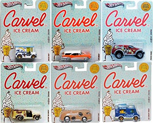2012 Hot Wheels Nostalgia Carvel Ice Cream 6-Car Set Diecast (Custom '57 Chevy, Haulin' Gas, Ice Cream Truck, '57 Buick, Bread Box, Power (Hot Wheel Cake)