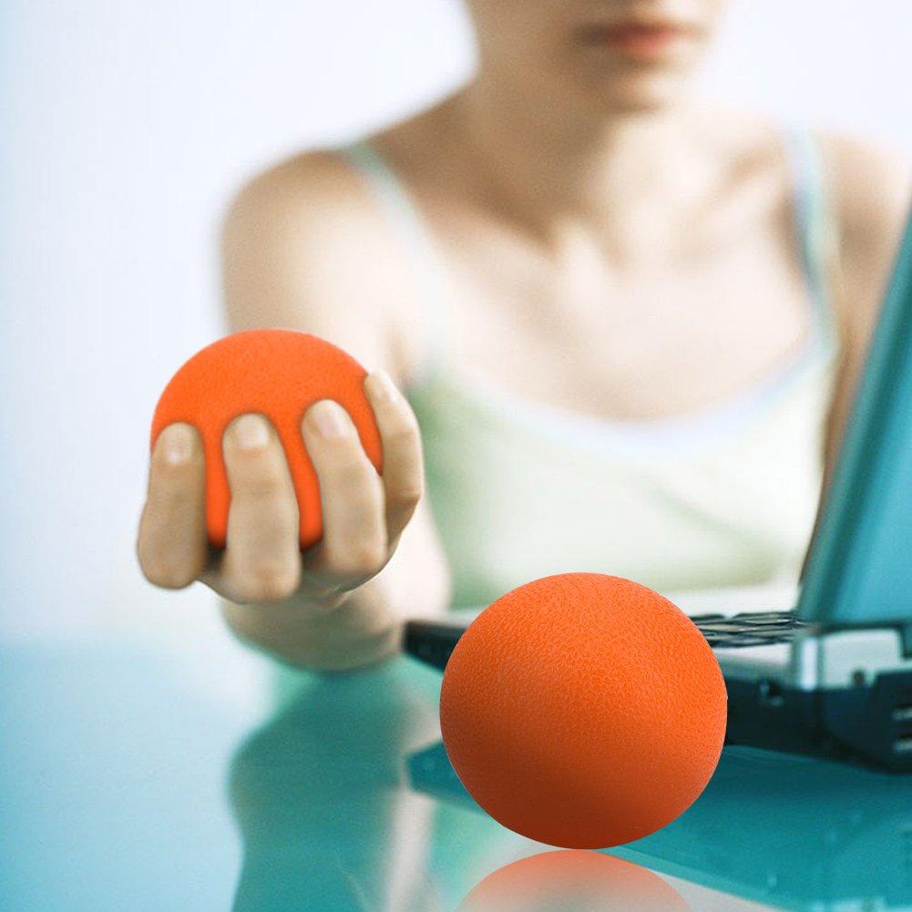 Boule De Poign/ée De Th/érapie De Massage De Silicone Dadultes denfants pour Le Soulagement De Stress dexercice De Force De Doigt De Main Balles dexercice De Main
