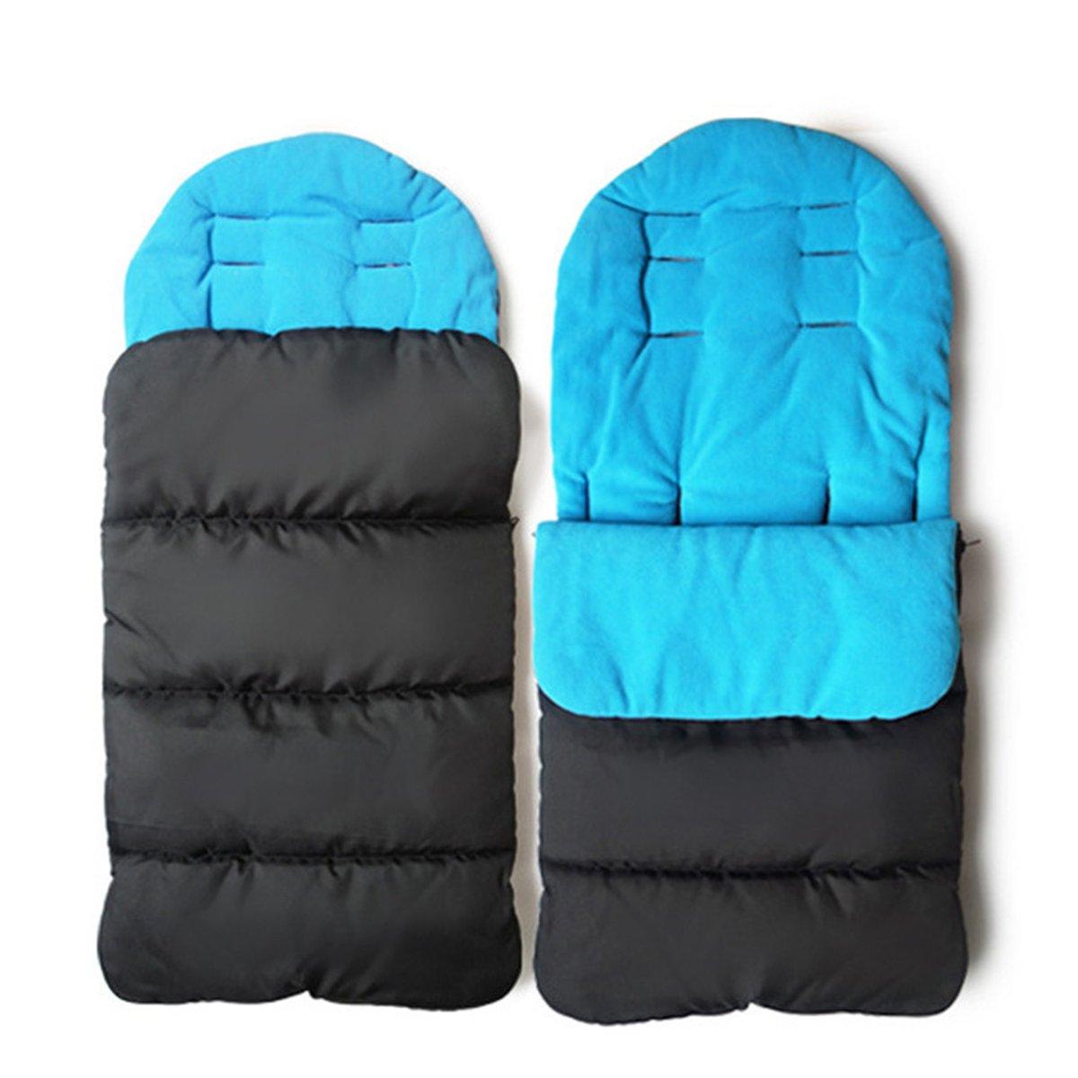 Saco de dormir y funda para pies de bebé de la marca Jiele, cómoda, cálida, resistente contra el viento azul azul: Amazon.es: Bebé