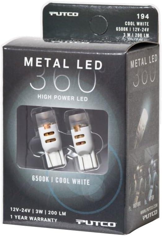 Putco 340194C-360 Metal LED Bulb, 1 Pack