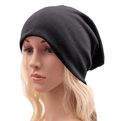94665afc0b0 UZZO Unisex Women Men Women Men Baggy Thick Hip-hop Soft Stretch Knit Cotton  Slouchy Beanie Hat Skull Cap