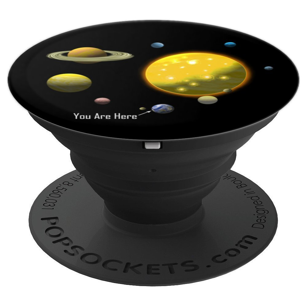 You Are Here Solar System Inspirational - PopSockets Grip and Stand for Phones and Tablets