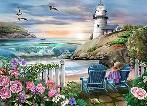 The Jigsaw Puzzle Factory Coastal Lighthouses - Devon's Cove (1000 Piece) Toy, Multicolor ()