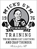BigBazza Novelty Retro Vintage Wall tin Plaque 20x15cm - Ideal for Pub shed Bar Office Man Cave Home Bedroom Dining Room Kitchen Gift - Rocky Film Mickey Gym Boxing Fight Movie Metal Sign