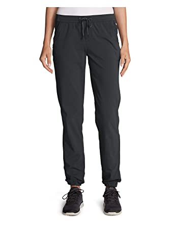 d49155e1e12 Eddie Bauer Women's Horizon Adjustable Jogger Pants, Dk Smoke Tall 6