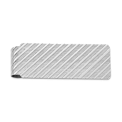 Sterling Silver Rhodium-plated Money Clip