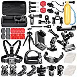Neewer 52-In-1 Action Camera Accessory Kit for GoPro Hero Session/5 Hero 1 2 3 3+ 4 5 SJ4000 5000 6000 DBPOWER AKASO VicTsing APEMAN WiMiUS Rollei QUMOX Lightdow Campark And Sony Sports DV and More