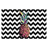 Area Rugs, Kitchen Mats, Bath Mats with Chevron Weave from DiaNoche by Organic Saturation - Party Pineapple Chevron