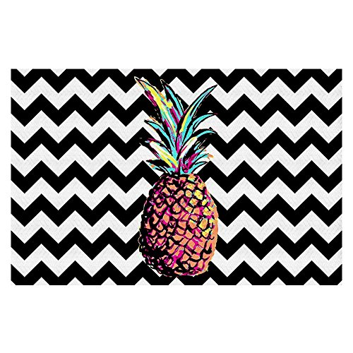 Area Rugs, Kitchen Mats, Bath Mats with Chevron Weave from DiaNoche by Organic Saturation - Party Pineapple Chevron by DiaNoche Designs