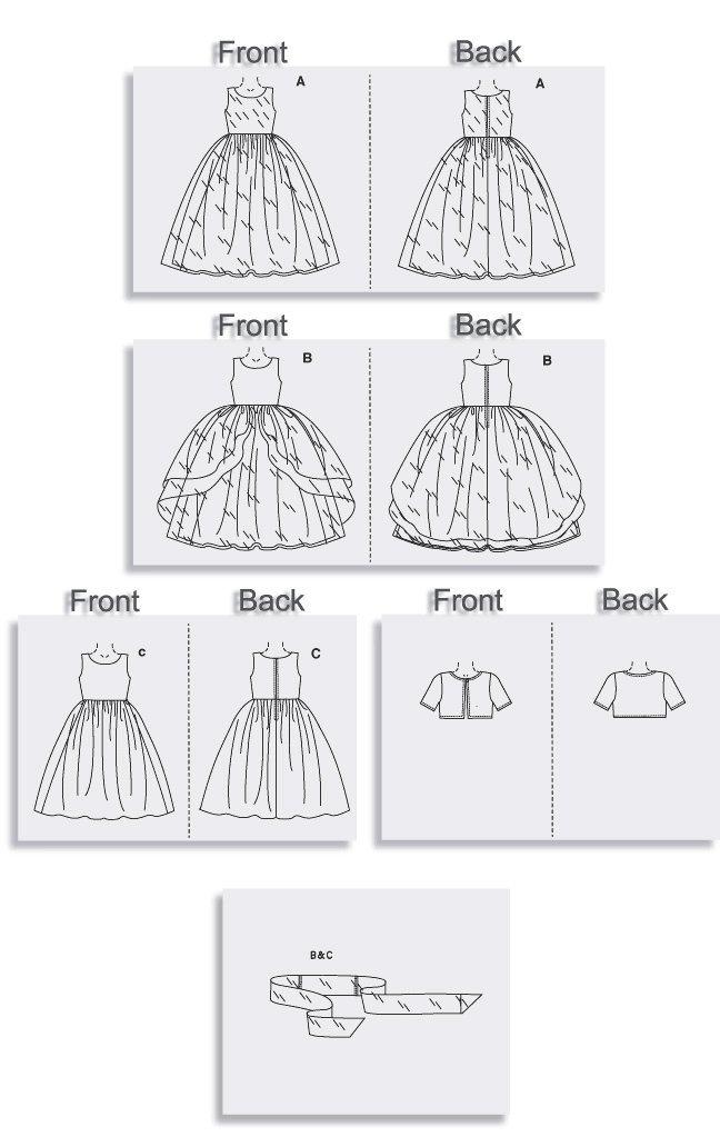 Vogue 7819 - Patrones de costura para vestido de niña (instrucciones ...