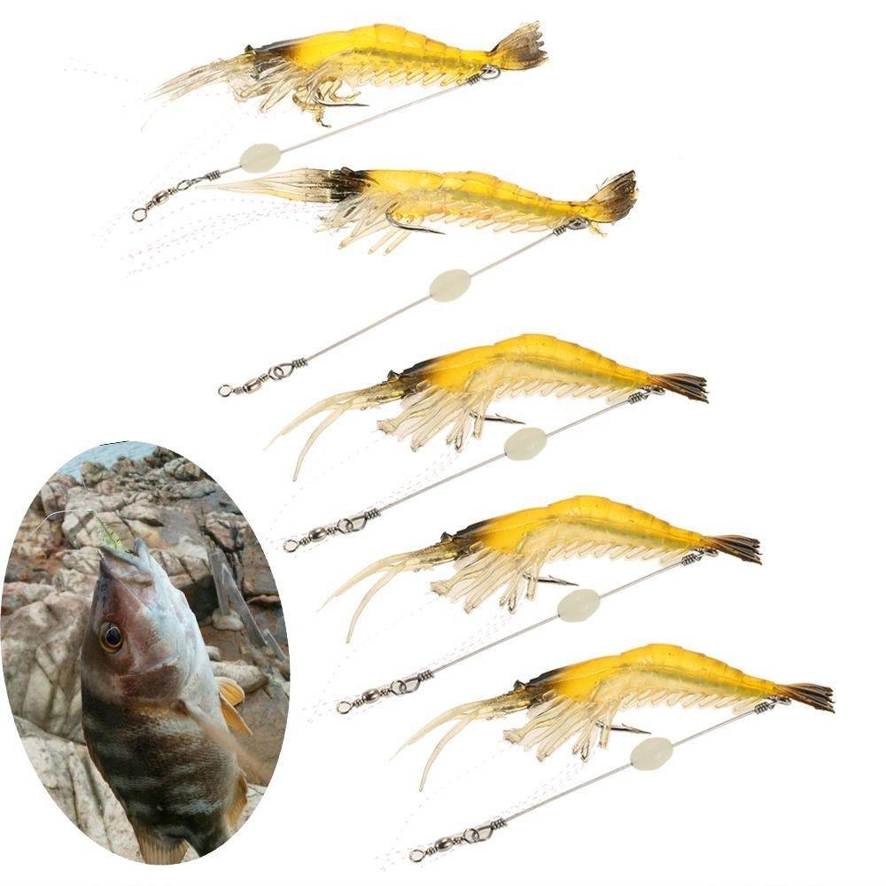 Creative Biomimetic Hook Worm Silicone Sea Fishing Prawn Lure Shrimp Fake Bait