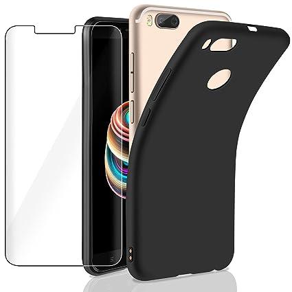 AROYI Funda Xiaomi Mi A1,Xiaomi Mi A1 Protector de Pantalla, Carcasa Suave TPU Silicona Gel Ultra Fina, Anti-Arañazos Protección Funda para Xiaomi Mi ...
