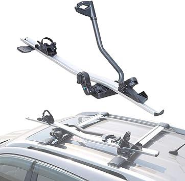 XINGXINGNS Porta Bicicletas de Techo Soporte, para Bicicletas Capacidad para 1 Bicicleta, Fijo Universal del automóvil Car Top Bike Rack, para SUV Coche: Amazon.es: Deportes y aire libre