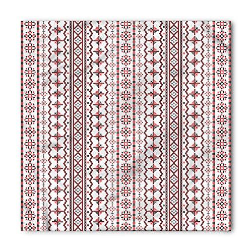 Lunarable Unisex Bandana, Traditional Eastern Europe Pattern, Black Red