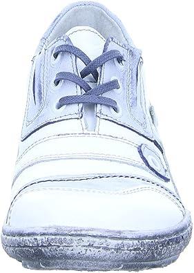 Kristofer Damen Schnürer P2029 Schnürhalbschuh Leder Weiß