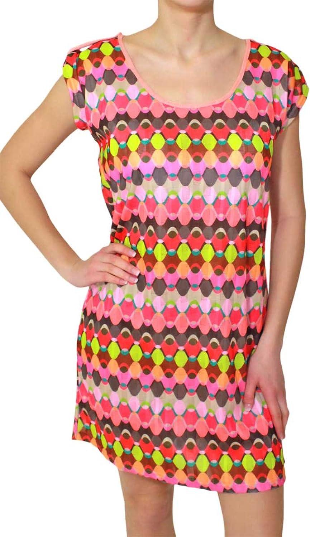 amarillolimon Women's A-Line Short Sleeve Dress Multicoloured Multicoloured 8