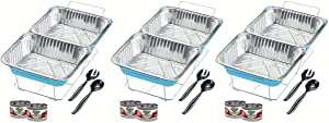 Sterno 70318 24-Piece Disposable Party Set, One Size, Blue