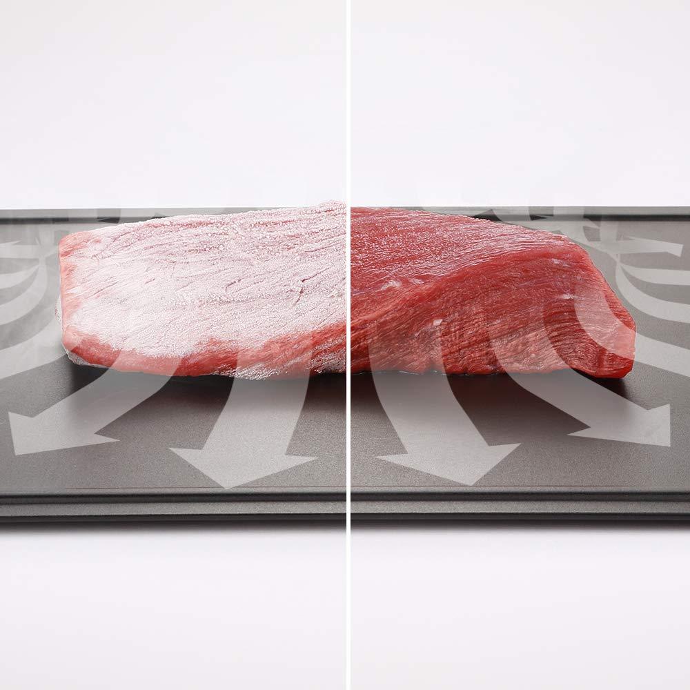 iddomum Auftauwanne, Küchentablett zum Auftauen von tiefgekühlten Nahrungsmitteln, reduziert die Auftauzeit von Tiefgefrorenem auf natürliche Art