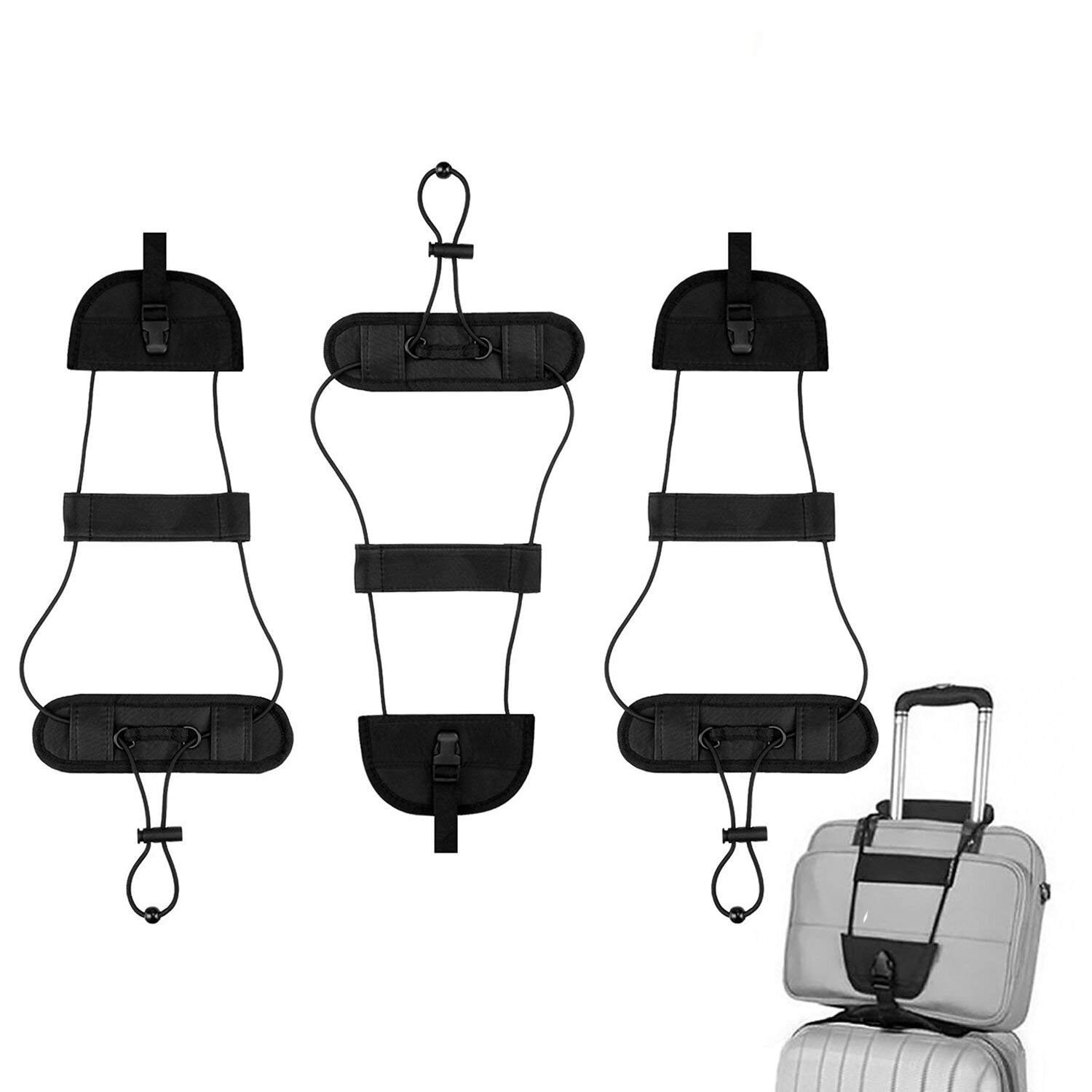 Lonew Bag Bungee, Luggage Straps Suitcase Adjustable Belt - Lightweight and Durable Travel Bag Accessories - 3Pack