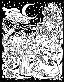 Darice 16-Inch by 20-Inch Velvet Art Set, Castle