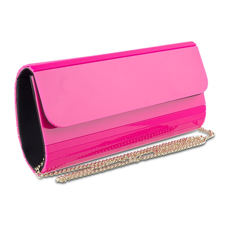 Mad Style Acrylic Elongated Clutch, Pink